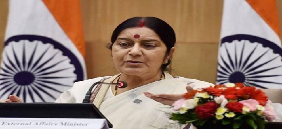 'Pakistan always distorts history & doesn't believe in law,' says Sushma Swaraj