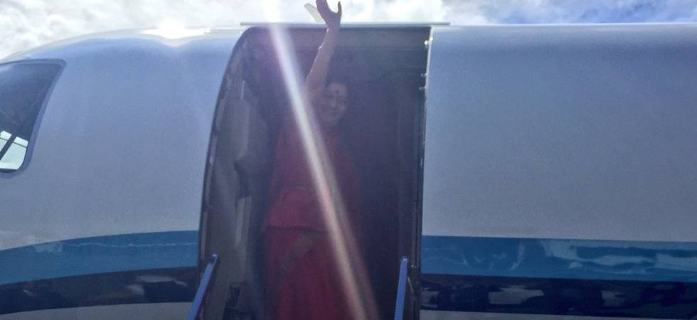 Aircraft carrying Sushma Swaraj goes incommunicado for 14 minutes (Photo: Twitter/MEA)