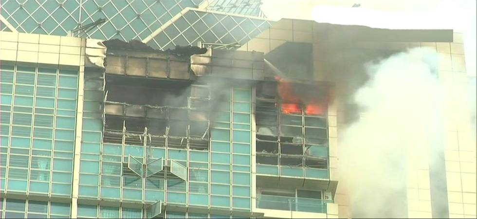 Massive fire breaks out at Prabhadevi's Beaumonde Building in Mumbai