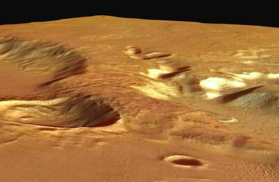 Explosive volcanoes spawned mysterious Mars rock formations