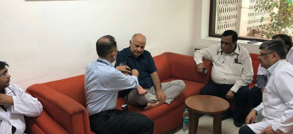 AAP Dharna: On fast for seven days, Manish Sisodia's admitted to hospital