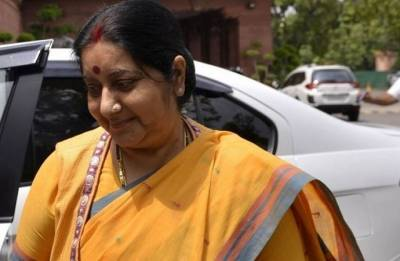 Sushma Swaraj arrives in Luxembourg on third leg of four-nation visit