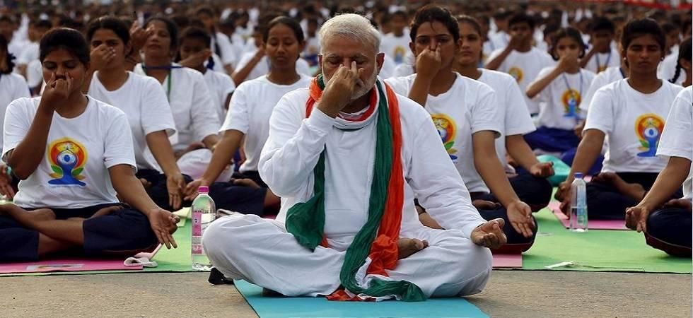 International Yoga Day: PM Modi to lead enthusiasts at Dehradun today (File Photo)