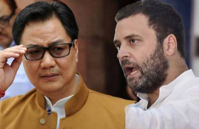 Kiren Rijiju hits back at Rahul Gandhi, says not BJP but your family 'ruined' Kashmir