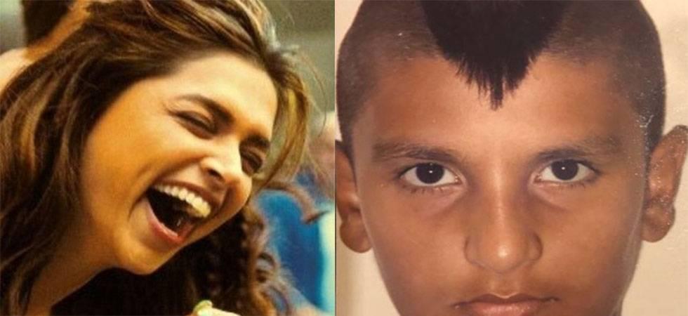 Deepika Padukone's reaction over Ranveer Singh's childhood Mohawk look