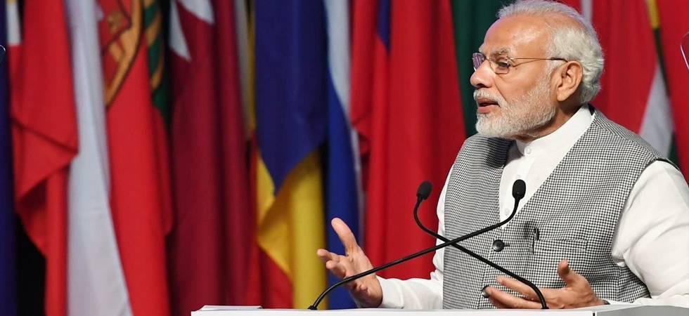 Congress spreading 'illusionary fear' among Dalits, minorities, says PM Modi (PIB Photo)