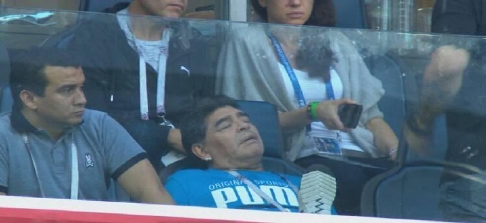 Diego Maradona says 'I am fine' after World Cup health scare