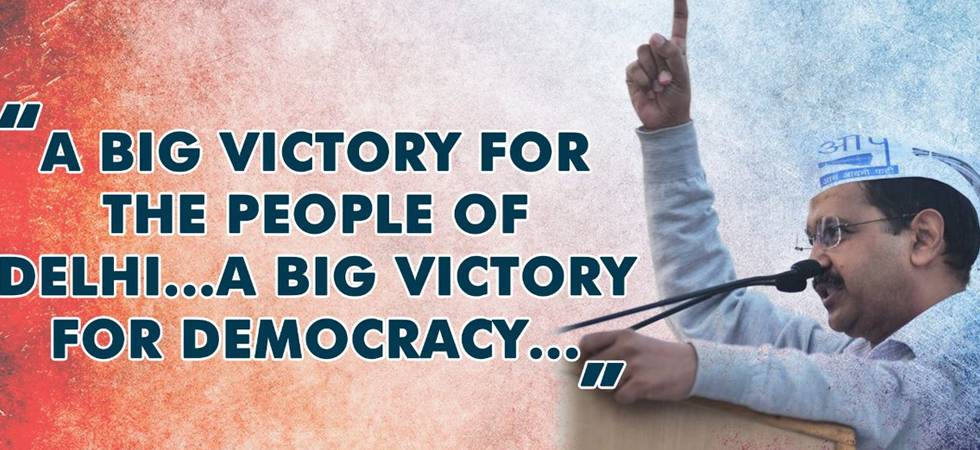 A big victory for democracy, says Kejriwal after SC verdict on Delhi power tussle (Photo: Twitter/AAP)