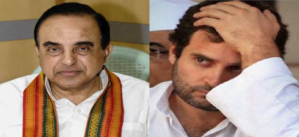 'Rahul Gandhi takes cocaine, will fail dope test', claims Subramanian Swamy
