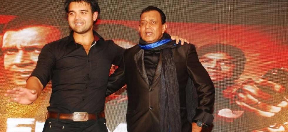 Actor Mithun Chakraborty (R) and son, Mimoh (File photo)