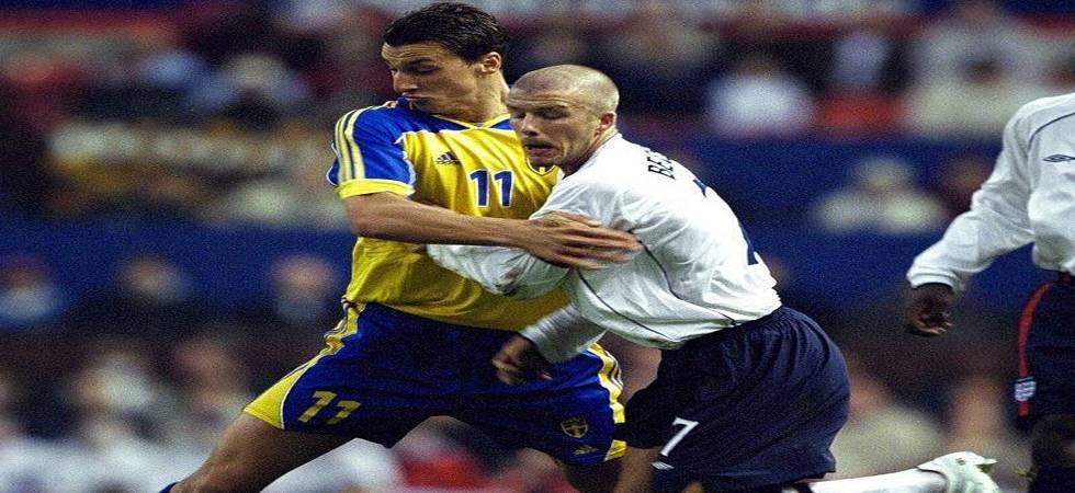 England vs Sweden: David Beckham, Ibrahimovic agree on mega bet  (Photo: Ibrahimovic Twitter handle)
