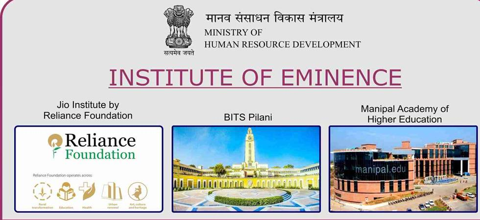 Six universities, including Jio Institute, awarded status of 'institutions of eminence' (Photo: Prakash Javadekar Twitter)