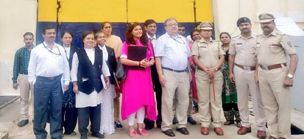 The two-member NCW India team led by Shri Alok Rawat, who conducted an inspection of Nagpur Central Jail on Wednesday (Photo: Twitter)