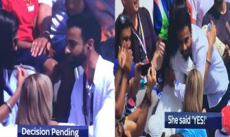 India vs England: Marriage proposal during match at Lord's