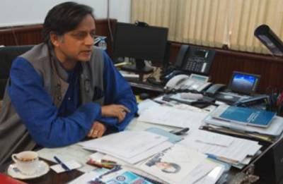 Shashi Tharoor gets life threat, office vandalised  by BJP youth wing activists