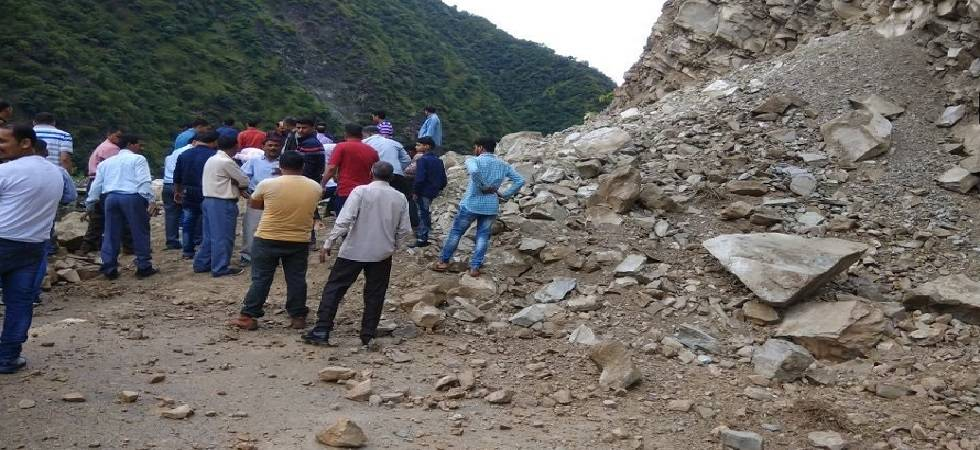 Landslide kills two Nepali labourers (Photo - ANI Twitter)