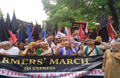 Farmers march against Modi government's 'false claims' on MSP