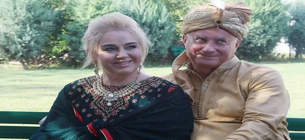 Polish couple celebrates wedding reception in Kashmir Valley (Photo- Twitter)