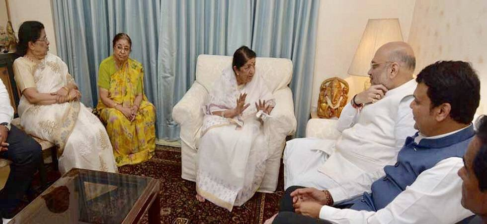Amit Shah discusses Lok Sabha preparations with Maharashtra leaders; meets Lata Mangeshkar (Photo: Twitter/ Lata Mangeshkar)