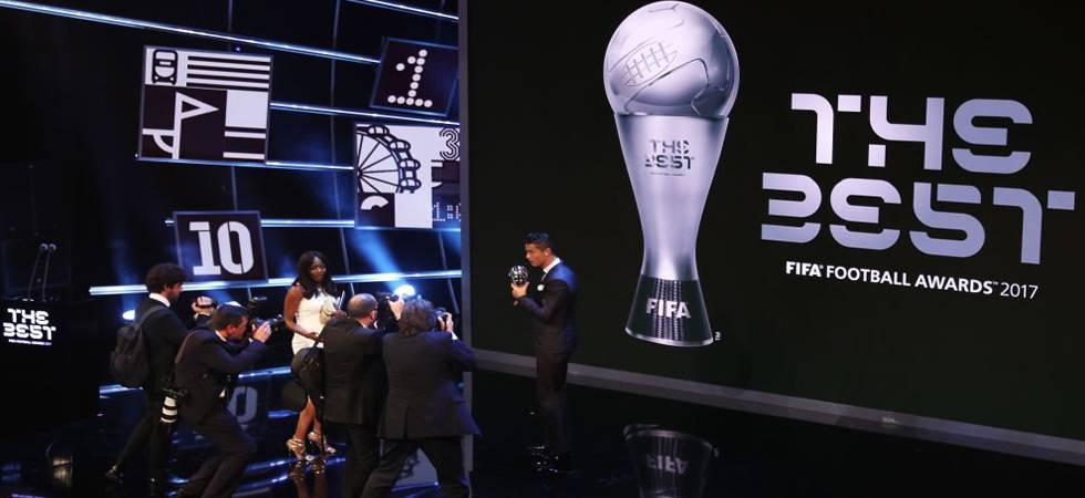 Cristiano Ronaldo after winning 2017 edition of the FIFA Player of the Year award (Photo: FIFA Twitter)