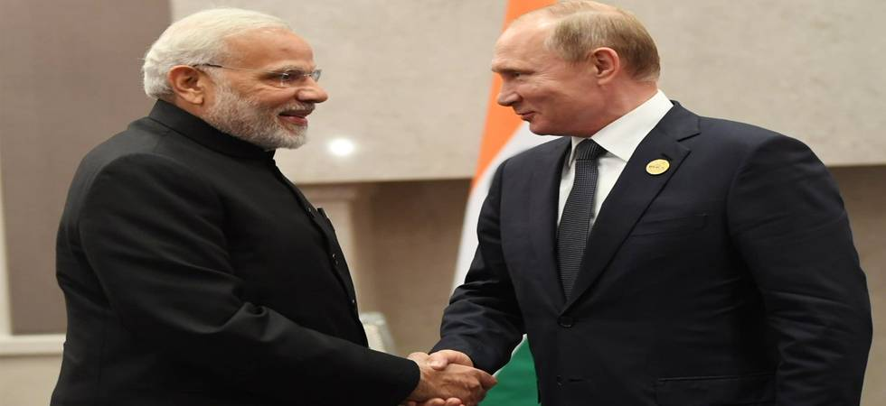 BRICS Summit 2018: PM Modi meets Russian President Putin, holds 'productive talks' (Photo: Narendra Modi Twitter)