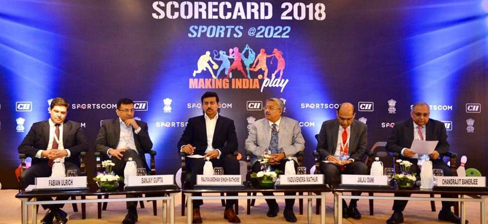 Rajyavardhan Rathore asks corporate companies to come forward and invest in development of sports (Photo: Twitter)
