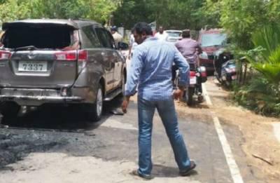 Petrol bomb hurled at TTV Dhinakaran's car in Chennai
