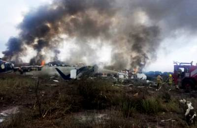 Passenger plane carrying 97 people crashes in Mexico