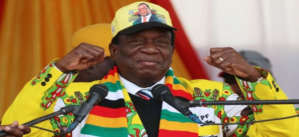 Zimbabwe's President Emmerson Mnangagwa (Photo- Twitter/Al Jazeera English)