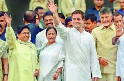 Anti-BJP Grand Alliance formed in Uttar Pradesh; Congress-SP-BSP to contest 2019 elections together