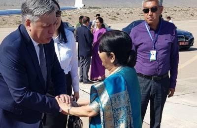 Sushma Swaraj concludes Kyrgyzstan visit, leaves for Uzbekistan