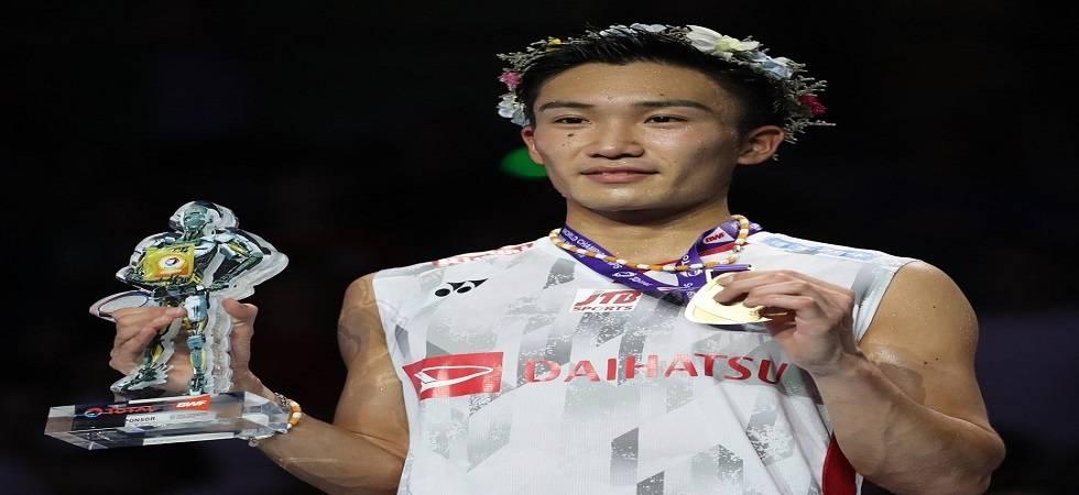 Momota first Japanese man to win badminton worlds (Photo: Twitter/@bwfmedia)