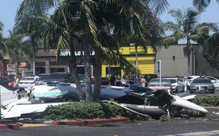 California: Five killed as plane crashes in shopping mall