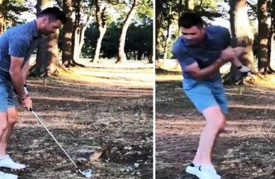 Stuart Broad posts video of Jimmy Anderson getting smashed by golf ball