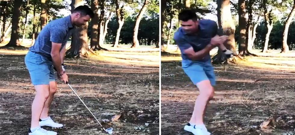 Stuart Broad posts video of Jimmy Anderson getting smashed by a golf ball (Photo: Stuart Broad Twitter)