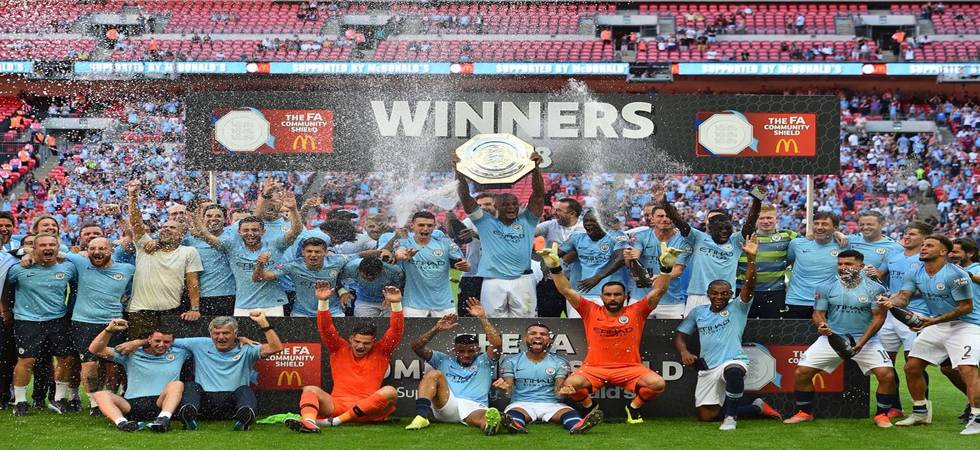 Aguero back on scoresheet as Manchester City defeat Chelsea 2-0 to lift Community Shield (Photo: Man City Twitter)