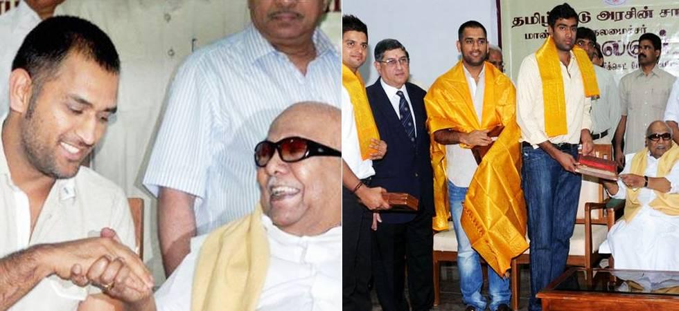'Kalaignar' Karunanidhi had special connection with MS Dhoni, Chennai Super Kings (Photo: PTI)