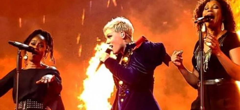 Pop diva Pink at a concert in Houston (Photo: Instagram/Pink)