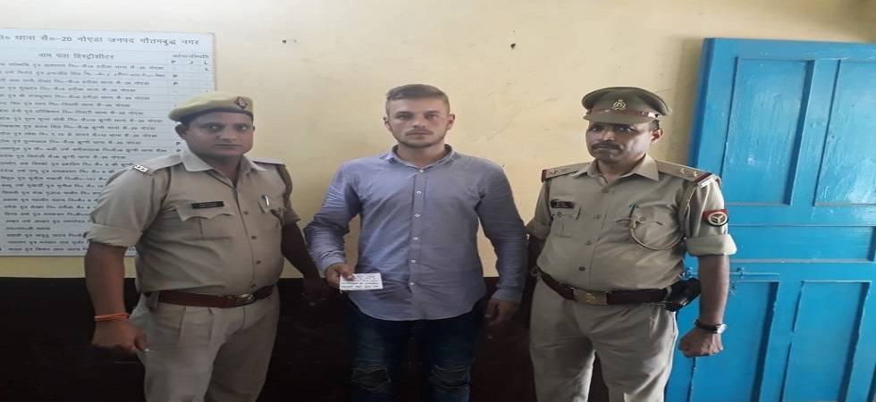 Romanian national arrested for trying to steal data from ATM in Noida (Photo- Twitter/@noidapolice)