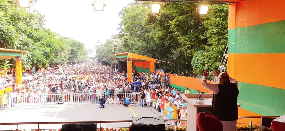 BJP will uproot Mamata Banerjee and TMC in West Bengal, said Amit Shah (Photo: BJP Twitter)