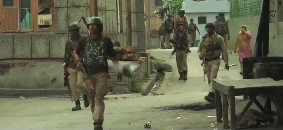 Jammu and Kashmir: Search operation turns into gunfight between militants and security forces (Photo: ANI Twitter)