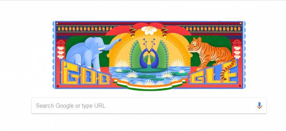 Google Doodle celebrates Independence Day 2018 with Indian Truck Art (Screen Grab)