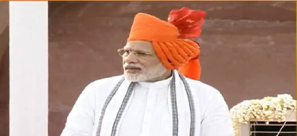Independence day 2018: PM sports saffron headgear during his address (Photo: Twitter)