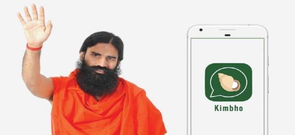 Patanjali's announces new look of WhatsApp rival 'Kimbho App' (Twitter)