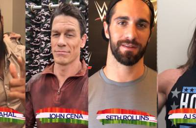 WATCH | WWE Superstars John Cena, Jinder Mahal, Seth Rollins wish Indian fans on I-Day