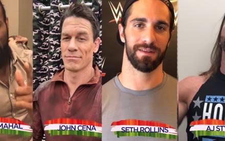 WATCH | WWE Superstars John Cena, Jinder Mahal, Seth Rollins
