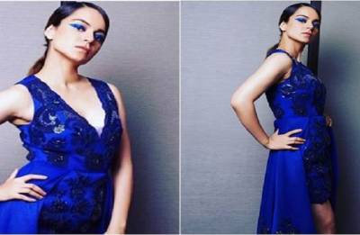 Lakme Fashion Week 2018: Kangana Ranaut sparkles in Pankaj and Nidhi ensemble