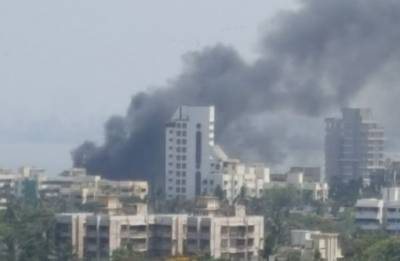 Massive fire engulfs residential building in Mumbai's Parel