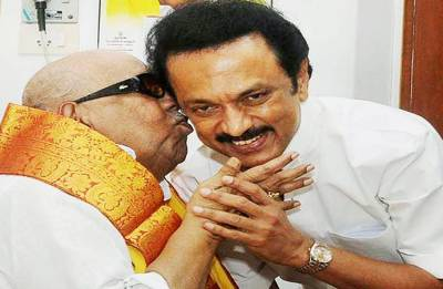 DMK Council meeting: Stalin elected party president; pays tribute to Karunanidhi at Marina beach