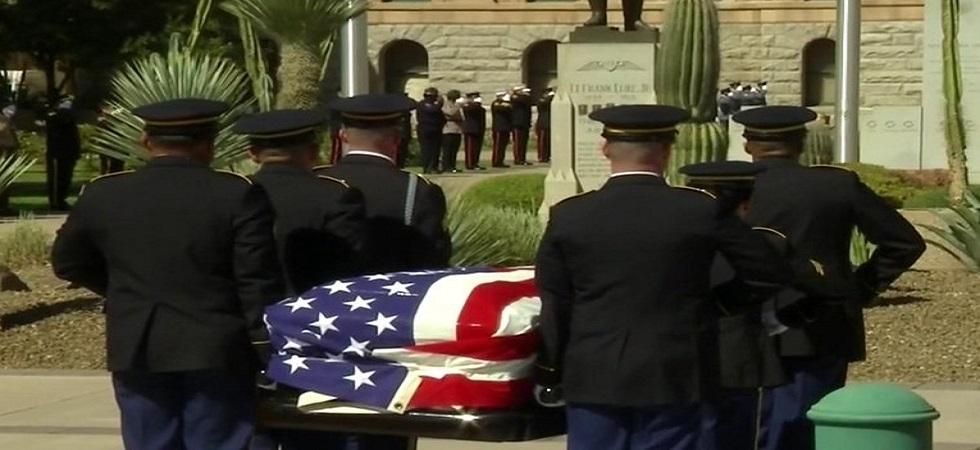 Final farewells to John McCain begin at Arizona Capitol (Photo- Twitter)